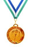κορδέλλα χρυσών μεταλλίων Στοκ εικόνα με δικαίωμα ελεύθερης χρήσης