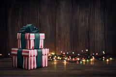 κορδέλλες δώρων κιβωτίω&nu Στοκ εικόνα με δικαίωμα ελεύθερης χρήσης