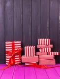 κορδέλλες δώρων κιβωτίω&nu Στοκ φωτογραφία με δικαίωμα ελεύθερης χρήσης