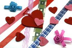 κορδέλλες καρδιών χρωμάτ&o Στοκ Εικόνα