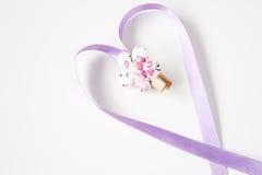 κορδέλλες καρδιών Στοκ Φωτογραφίες