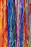 κορδέλλες ουράνιων τόξων Στοκ Φωτογραφίες