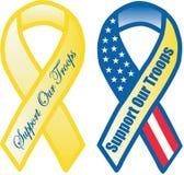 Κορδέλλες υποστήριξης στρατεύματος Στοκ Εικόνες