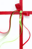 Κορδέλλες Χριστουγέννων Στοκ Φωτογραφία