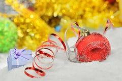 κορδέλλες Χριστουγένν&omeg Στοκ φωτογραφίες με δικαίωμα ελεύθερης χρήσης