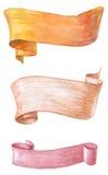 Κορδέλλες Watercolors Στοκ Εικόνα