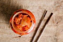 Κορεατικά τρόφιμα λάχανων Kimchi Στοκ φωτογραφίες με δικαίωμα ελεύθερης χρήσης