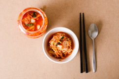 Κορεατικά τρόφιμα λάχανων Kimchi Στοκ Φωτογραφίες