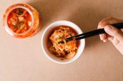 Κορεατικά τρόφιμα λάχανων Kimchi Στοκ Εικόνες