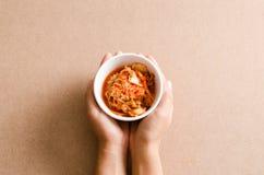 Κορεατικά τρόφιμα λάχανων Kimchi Στοκ εικόνα με δικαίωμα ελεύθερης χρήσης