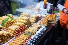 Κορεατικά τρόφιμα οδών στοκ φωτογραφίες