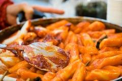 Κορεατικά τρόφιμα οδών Topoki Στοκ Εικόνα