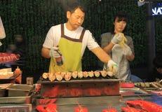 Κορεατικά τρόφιμα Σεούλ Νότια Κορέα οδών Στοκ φωτογραφία με δικαίωμα ελεύθερης χρήσης