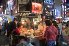 Κορεατικά τρόφιμα Σεούλ Νότια Κορέα οδών Στοκ φωτογραφίες με δικαίωμα ελεύθερης χρήσης
