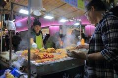 Κορεατικά τρόφιμα Σεούλ Νότια Κορέα οδών Στοκ Φωτογραφία