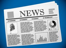 Κορεατικές επιχείρηση και οικονομία στην εφημερίδα διανυσματική απεικόνιση