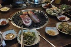 Κορεατική κοιλιά χοιρινού κρέατος σχαρών, samgyeopsal-Gui Στοκ φωτογραφίες με δικαίωμα ελεύθερης χρήσης