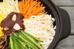 Κορεατική κουζίνα, Bibimbap Στοκ φωτογραφία με δικαίωμα ελεύθερης χρήσης