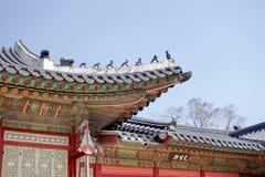 Κορεατική παραδοσιακή αρχιτεκτονική Στοκ εικόνα με δικαίωμα ελεύθερης χρήσης