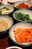 κορεατική πλευρά πιάτων Στοκ Φωτογραφία