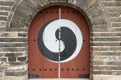 Κορεατική πόρτα Yin και Yang Στοκ Εικόνα