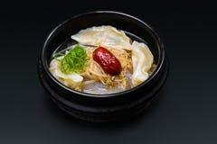 Κορεατική σούπα με τη Apple Στοκ Φωτογραφία