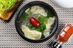 Κορεατική σούπα με τη Apple Στοκ εικόνες με δικαίωμα ελεύθερης χρήσης