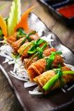 Κορεατική συνταγή για το ρόλο ρυζιού φυκιών Kimbap στοκ φωτογραφία