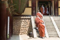 Κορεατικοί μοναχοί Στοκ Εικόνα