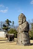 Κορεατικό άγαλμα στο βασιλικό τάφο Στοκ Εικόνες
