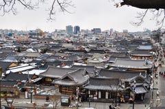 Κορεατικό παραδοσιακό σπίτι, χωριό Jeonju Hanok στοκ εικόνα