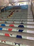 Κορεατικό παραδοσιακό Ilustration στα σκαλοπάτια Στοκ εικόνες με δικαίωμα ελεύθερης χρήσης