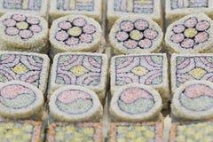 Κορεατικό παραδοσιακό κέικ ρυζιού songpyeon Στοκ φωτογραφία με δικαίωμα ελεύθερης χρήσης