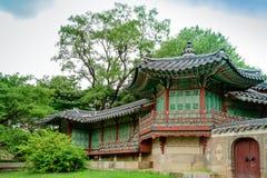 Κορεατικό παραδοσιακό κτήριο Στοκ Εικόνα