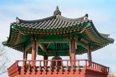 Κορεατικό περίπτερο κουδουνιών Στοκ φωτογραφία με δικαίωμα ελεύθερης χρήσης