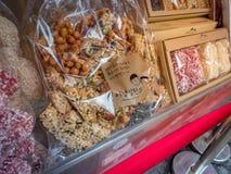 Κορεατικό πρόχειρο φαγητό στο εμπορικό κέντρο Ssamziegil Insadong την 1η Σεπτεμβρίου, Στοκ Φωτογραφία