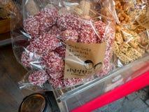 Κορεατικό πρόχειρο φαγητό στο εμπορικό κέντρο Ssamziegil Insadong την 1η Σεπτεμβρίου, Στοκ Φωτογραφίες