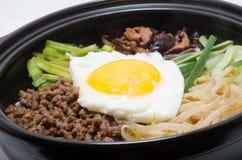 Κορεατικό bibimbap Στοκ εικόνα με δικαίωμα ελεύθερης χρήσης