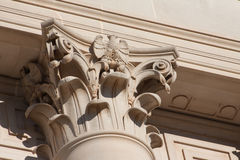 Κορινθιακή στήλη στην Οκλαχόμα Capitol Στοκ φωτογραφία με δικαίωμα ελεύθερης χρήσης