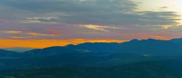 Κορινθιακό ηλιοβασίλεμα Κόλπων Στοκ φωτογραφία με δικαίωμα ελεύθερης χρήσης