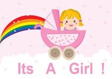 κοριτσάκι άφιξης ελεύθερη απεικόνιση δικαιώματος