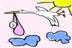 κοριτσάκι νεογέννητο Στοκ εικόνες με δικαίωμα ελεύθερης χρήσης