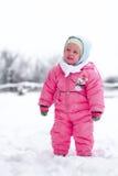 Κοριτσάκι στο wintertime στοκ φωτογραφία