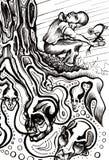 κορμός δέντρων ονειροπόλη& απεικόνιση αποθεμάτων