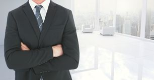 Κορμός επιχειρηματιών στο ουδέτερο άσπρο δωμάτιο Στοκ Εικόνα