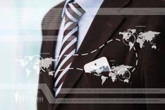 Κορμός του βέβαιου επιχειρησιακού ατόμου που φορά το κομψό κοστούμι απεικόνιση αποθεμάτων