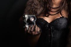 κορσές που φορά τη γυναίκ& στοκ εικόνα