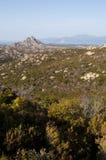 Κορσική, άγριο τοπίο, ΚΑΠ Κορσική, Haute-Corse, η ανώτερη Κορσική, Γαλλία, Ευρώπη Στοκ εικόνα με δικαίωμα ελεύθερης χρήσης