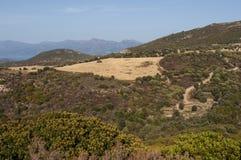 Κορσική, άγριο τοπίο, ΚΑΠ Κορσική, Haute-Corse, η ανώτερη Κορσική, Γαλλία, Ευρώπη Στοκ φωτογραφία με δικαίωμα ελεύθερης χρήσης