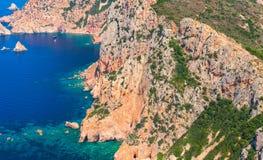 Κορσική Corse-du-sud, περιοχή Piana Στοκ εικόνες με δικαίωμα ελεύθερης χρήσης